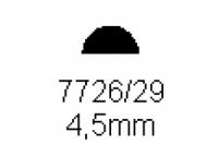 Halbrundprofil 4.5mm Länge 1000mm
