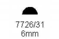 Halbrundprofil 6.0mm Länge 1000mm