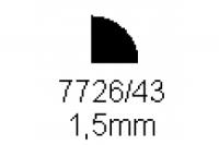 Viertelrundprofil 1.5mm Länge 1000mm