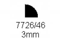Viertelrundprofil 3.0mm Länge 1000mm