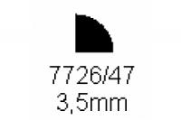 Viertelrundprofil 3.5mm Länge 1000mm