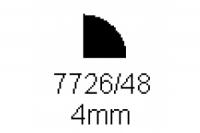 Viertelrundprofil 4.0mm Länge 1000mm