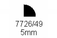 Viertelrundprofil 5.0mm Länge 1000mm