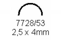 Halbrohr 2.5x4.0mm Länge 1000mm