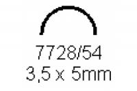 Halbrohr 3.5x5.0mm Länge 1000mm