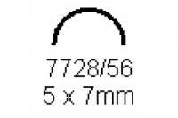 Halbrohr 5.0x7.0mm Länge 1000mm