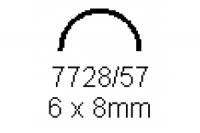 Halbrohr 6.0x8.0mm Länge 1000mm