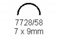 Halbrohr 7.0x9.0mm Länge 1000mm