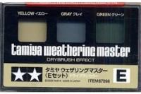 Tamyia Weathering Master, gelb, grau, grün