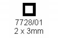 4-kant Rohr 2.0x3.0mm Länge 1000mm