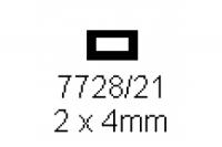 4-kant Rohr 2.0x4.0mm Länge 1000mm rechteckig