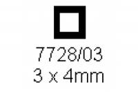 4-kant Rohr 3.0x4.0mm Länge 1000mm