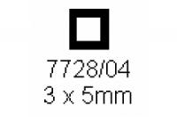 4-kant Rohr 3.0x5.0mm Länge 1000mm