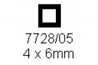 4-kant Rohr 4.0x6.0mm Länge 1000mm