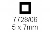 4-kant Rohr 5.0x7.0mm Länge 1000mm