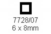 4-kant Rohr 6.0x8.0mm Länge 1000mm