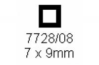 4-kant Rohr 7.0x9.0mm Länge 1000mm