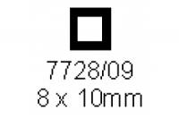 4-kant Rohr 8.0x10.0mm Länge 1000mm