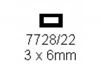 4-kant Rohr 3.0x6.0mm Länge 1000mm rechteckig