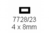 4-kant Rohr 4.0x8.0mm Länge 1000mm rechteckig