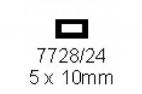 4-kant Rohr 5.0x10.0mm Länge 1000mm rechteckig