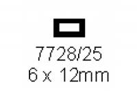 4-kant Rohr 6.0x12.0mm Länge 1000mm rechteckig