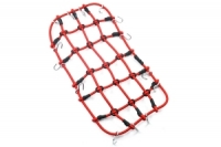 YEAH RACING 1/10 RC Crawler Scale Accessory Luggage Net 200mm x 110mm Red