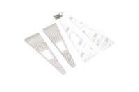 YEAH RACING Stainless Steel Front Hood Side Diamond Plate for Traxxas TRX-4