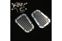 YEAH RACING Stainless Steel Front Hood Vent Plate Type B for Traxxas TRX-4