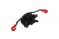 YEAH RACING RC Rock Crawler Accessory 96cm Long Chain and Hook Set Black 1/10