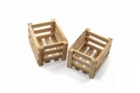 YEAH RACING RC Rock Crawler Accessory Wooden Crate 1/10