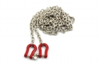 YEAH RACING RC Rock Crawler Accessory 96cm Long Chain with Buckle Red