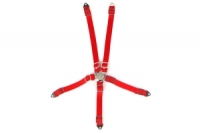 YEAH RACING 1/10 RC Scale Accessory Safety Belt Red