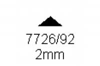 3-kant Profil 90° 2.0mm Länge 1000mm