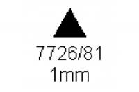 3-kant Profil 60° 1.0mm Länge 1000mm