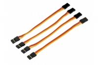 Servo-Patch-Kabel, 2x JR-Buchse, 10cm, 4Stück