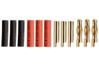 4.0mm Goldstecker mit Lötkelch, 3 Paare