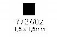 4-kant Profil quadratisch 1.5x1.5mm Länge 1000mm