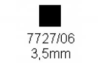 4-kant Profil quadratisch 3.5x3.5mm Länge 1000mm
