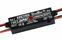 Hacker Akkuweiche DPSI Micro DualBat 5.9V/7.2V JR