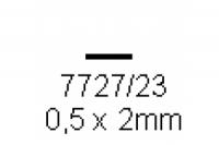 4-kant Profil rechteckig 0.5x2.0mm Länge 1000mm