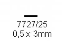 4-kant Profil rechteckig 0.5x3.0mm Länge 1000mm