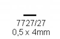 4-kant Profil rechteckig 0.5x4.0mm Länge 1000mm