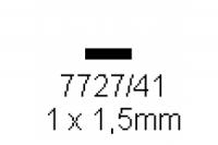 4-kant Profil rechteckig 1.0x1.5mm Länge 1000mm