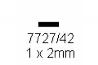 4-kant Profil rechteckig 1.0x2.0mm Länge 1000mm