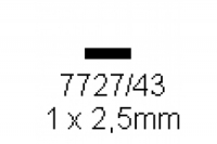 4-kant Profil rechteckig 1.0x2.5mm Länge 1000mm