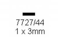 4-kant Profil rechteckig 1.0x3.0mm Länge 1000mm