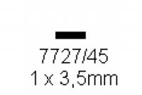 4-kant Profil rechteckig 1.0x3.5mm Länge 1000mm