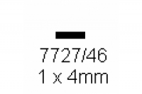 4-kant Profil rechteckig 1.0x4.0mm Länge 1000mm