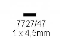 4-kant Profil rechteckig 1.0x4.5mm Länge 1000mm